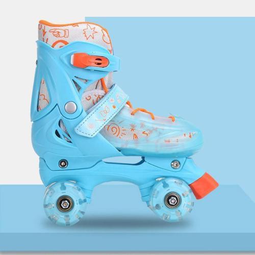 Girls Light Up Roller Skates Fun Flash Quad Adjustable Kids Roller Skates Outdoor