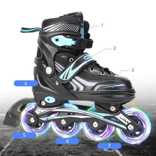 Flashing Roller Blades Kids Inline Skates Freestyle Adjustable