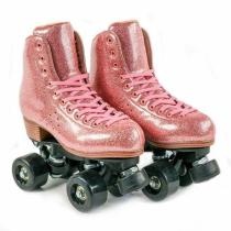 Glitter Pink Outdoor & Urban Roller Skates For Girls