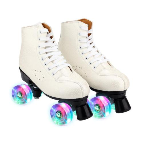 Youth Street Beige Women's Quad Roller Skates