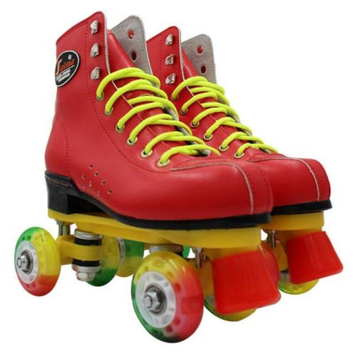 Narrow Light Up Skate Wheels Professional Flash Roller Skates Boots For Men & Women