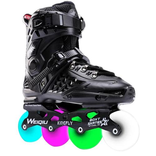 Full flash wheel adult roller skates inline roller skates figure skating shoes