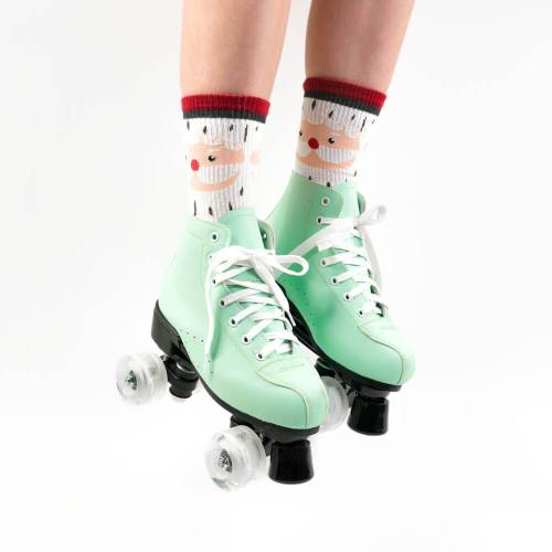 Mint Green Adult Womens Outdoor Retro Roller Skates