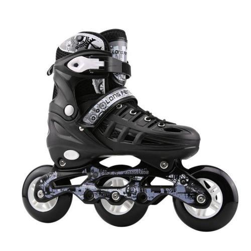 3 Wheels Adjustable Street Inline Skates Youth Rollerblade