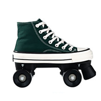 Dark Green Beginners Indoor & Outdoor Light Up Roller Skates For Adults