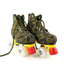 Outdoor Camouflage Light Up Skates Adult Best Starter Flash Leather Roller Skates Boots