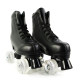 Black Women's Light Up Wheels For Roller Skates