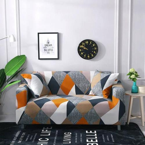 Color Stitching Geometry Sofa Covers