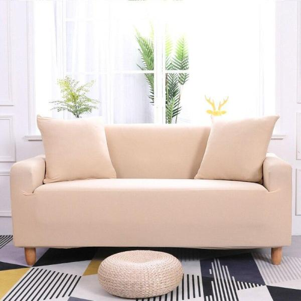 Solid Light Beige Couch Covers