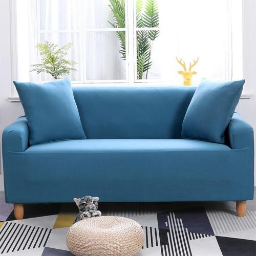 Solid Calm Blue Sofa Covers