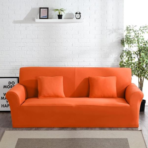 Solid Orange Sofa Covers