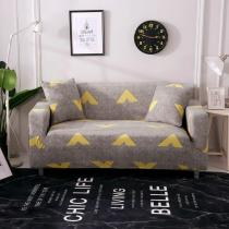 Gray Yellow Arrow Couch Covers