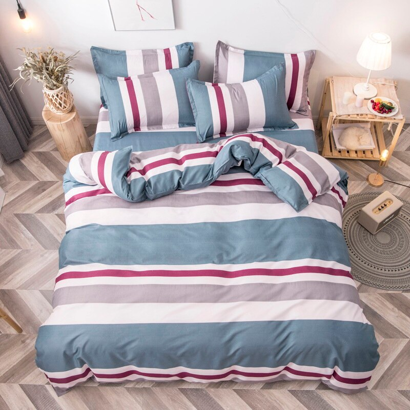 Black star Bed Linen High Quality 3/4pcs Bedding Set duvet Cover