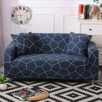 Dark Blue Polygon Couch Covers