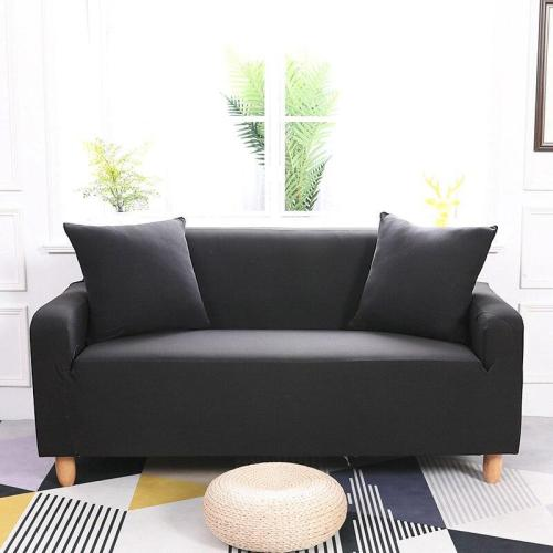 Solid Black Sofa Covers