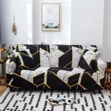White & Black Marble Sofa Covers