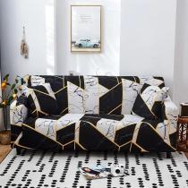 White & Black Marble Sofa Covers