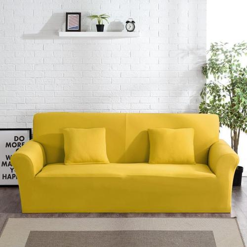 Solid Yellow Sofa Covers