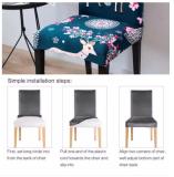 Waterproof Handmade Chair Covers Blue Vector