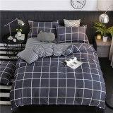 3/4pcs King Size Black and White leopard pattern bedding set
