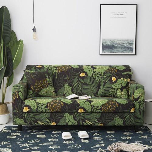 Green Leaf Printed Sofa Covers