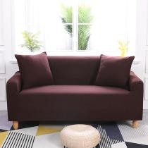 Solid Dark Maroon Couch Covers