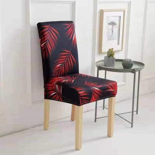 Waterproof Handmade Chair Covers Black&Red leaves