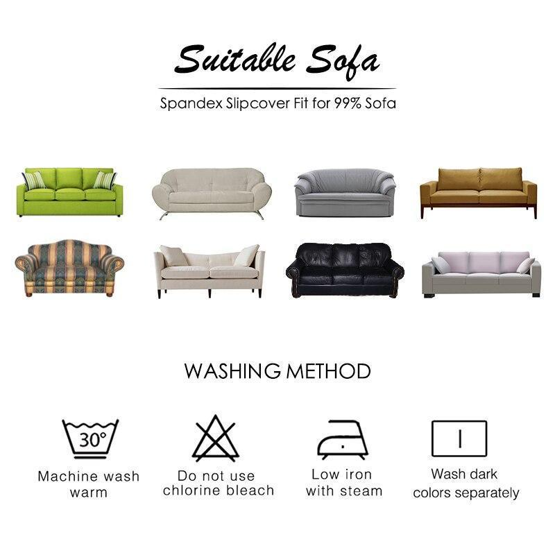 Solid Light Grey Sofa Covers