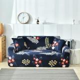Navy Blue Plant Printed Sofa Covers