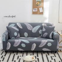 Dark Grey Feather Couch Covers