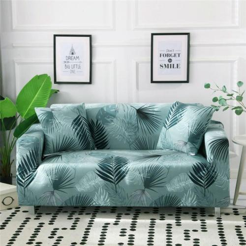 Green Leaves Printed Couch Covers