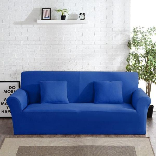 Solid Blue Couch Covers