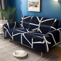 Dark Blue Lines Sofa Covers