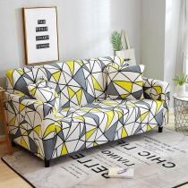 Yellow White Triangle Couch Covers