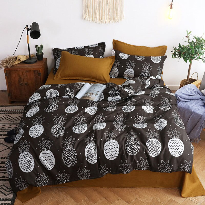 4pcs Bed Cover Set Duvet Cover Bed Sheets