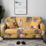 Yellow Floral  Printed Sofa Covers