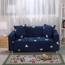 Navy Blue Triangle Printed Couch Covers