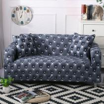 Blue Leather Printed Sofa Covers