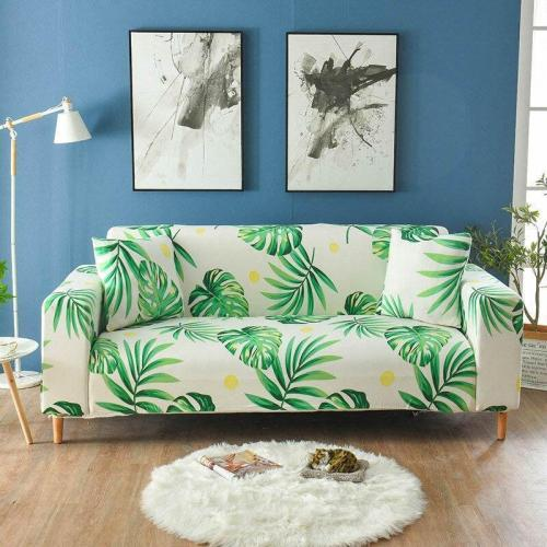 White Green Leaf Couch Covers