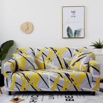 Yellow Abstract Lines Couch Covers