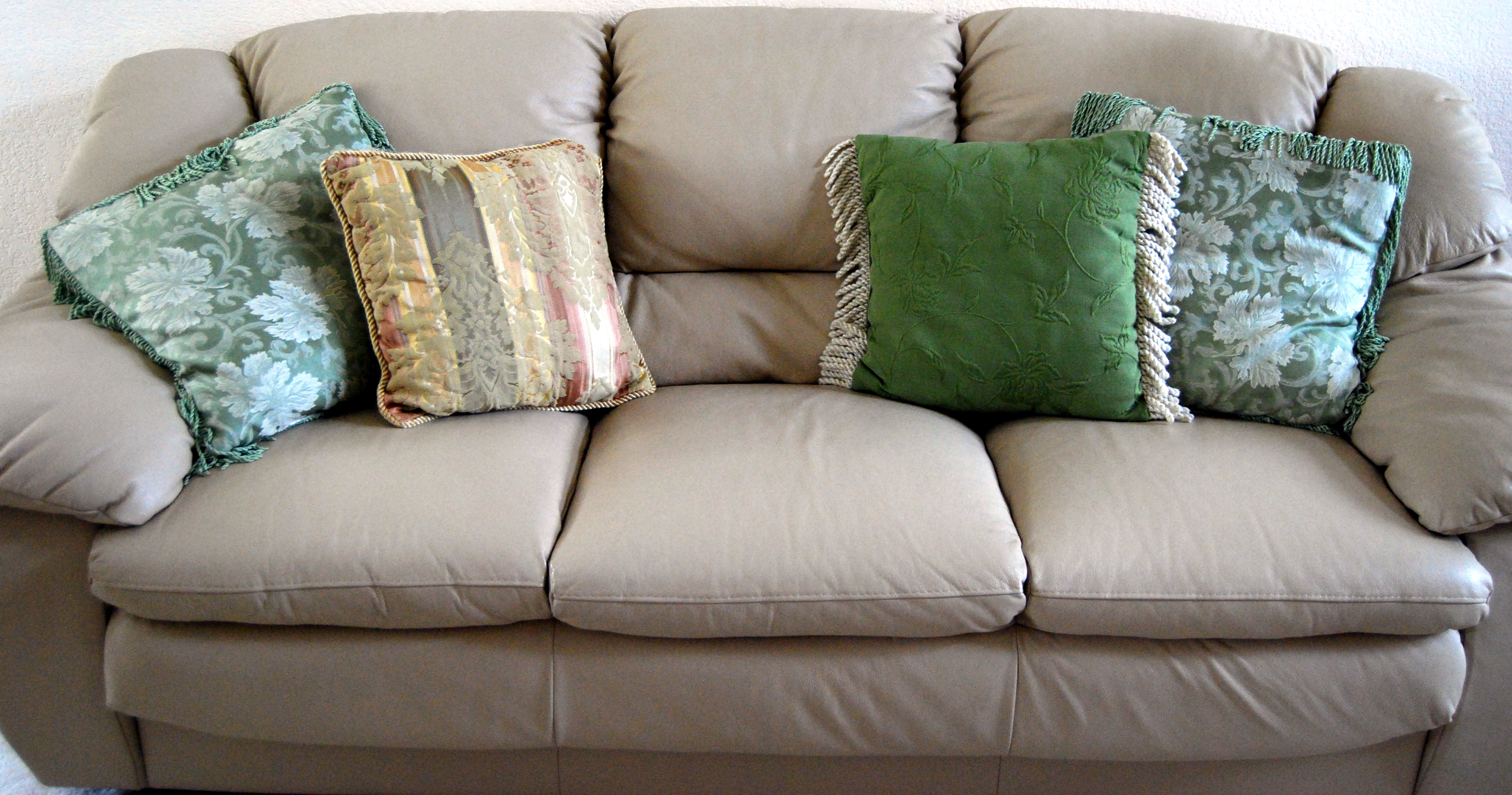 Three-seat solid color sofa cover