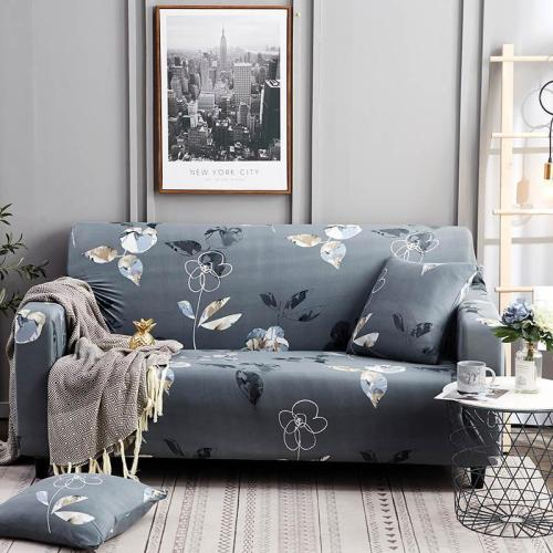 Dark Gray Floral Couch Covers