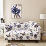 White Floral Printed Couch Covers