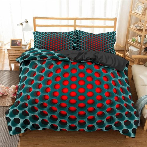 3D Luxury Bedding Sets Geometric Print Duvet Cover Pillowcase 3pcs