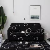 Black Geometric Printed Sofa Covers