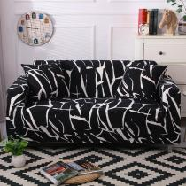 Black Messy Lines Couch Covers