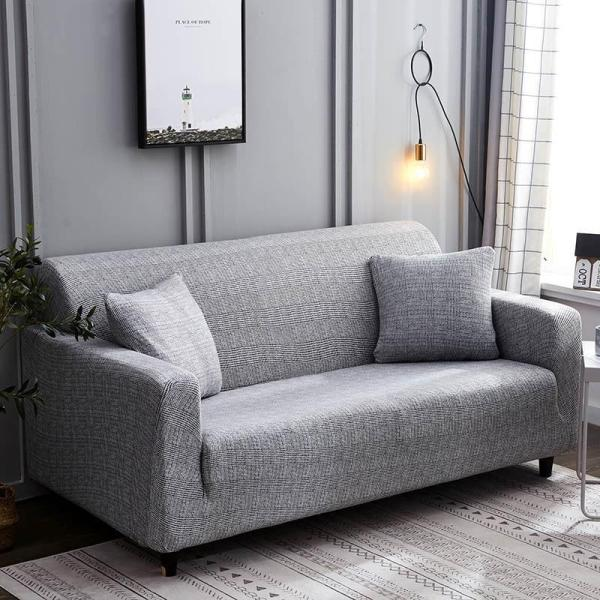 Solid Chestnut Gray Couch Covers