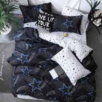 Black star Bed Linen High Quality 3/4pcs Bedding Set duvet Cover