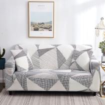 White Gray Geometric Sofa Covers