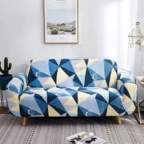 Blue Geometry Sofa Covers